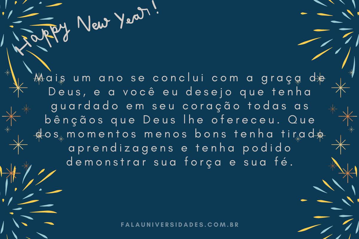 Mensagem de Feliz Ano Novo.