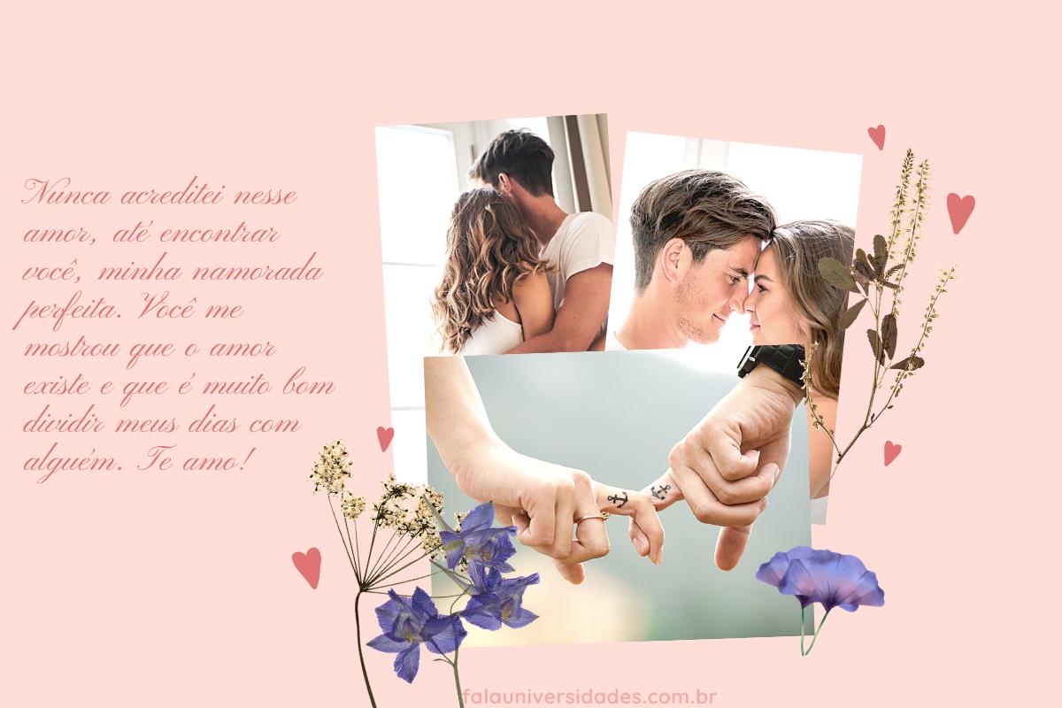Recados românticos para seu amor.