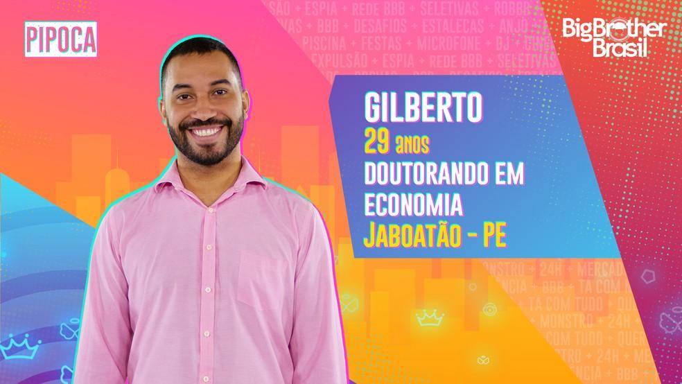 Gilberto é o último eliminado do BBB21.