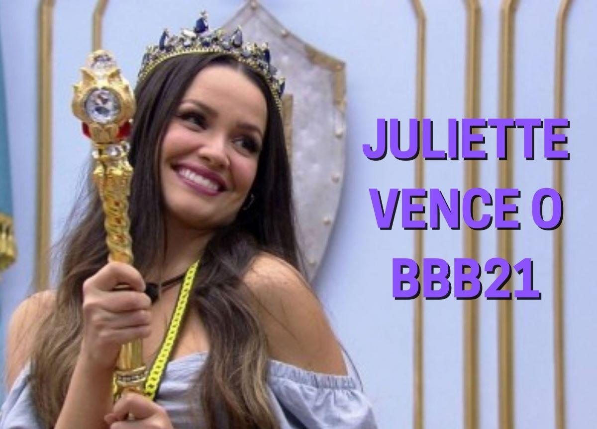 BBB21: Juliette Freire é a grande vencedora do reality show