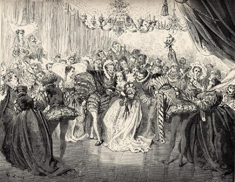 Cinderela encontra o Príncipe Encantado no Baile.