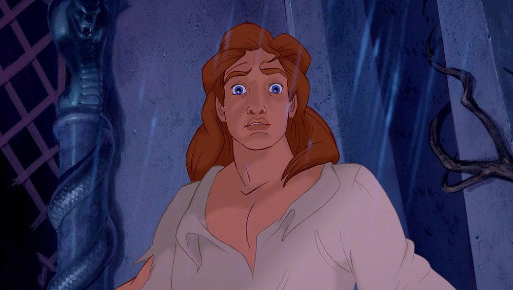 Príncipe Adam é a Fera, do filme A Bela e a Fera.