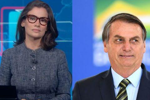 Renata Vasconcellos chama Bolsonaro de ex-presidente no Jornal Nacional