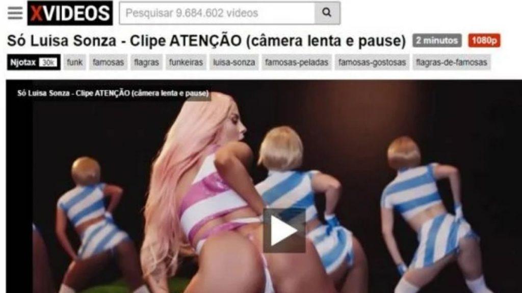 """Pedro Sampaio e Luísa Sonza são censurados em vídeo no Youtube por """"nudez excessiva""""."""