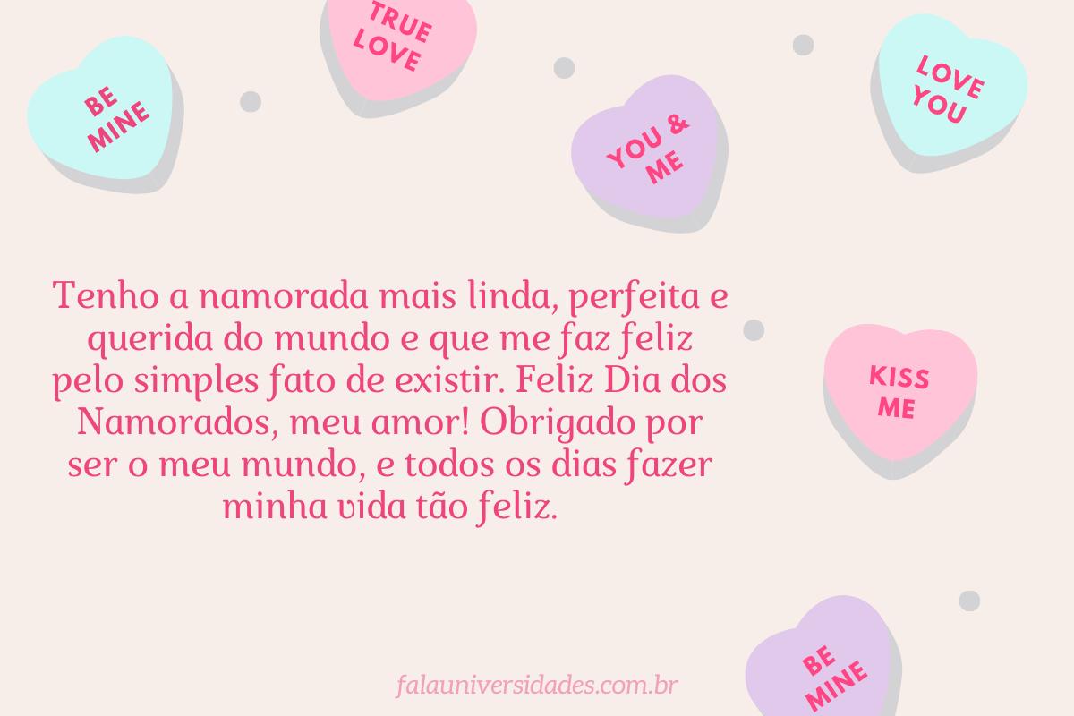 Mensagem Dia dos Namorados para Namorada.