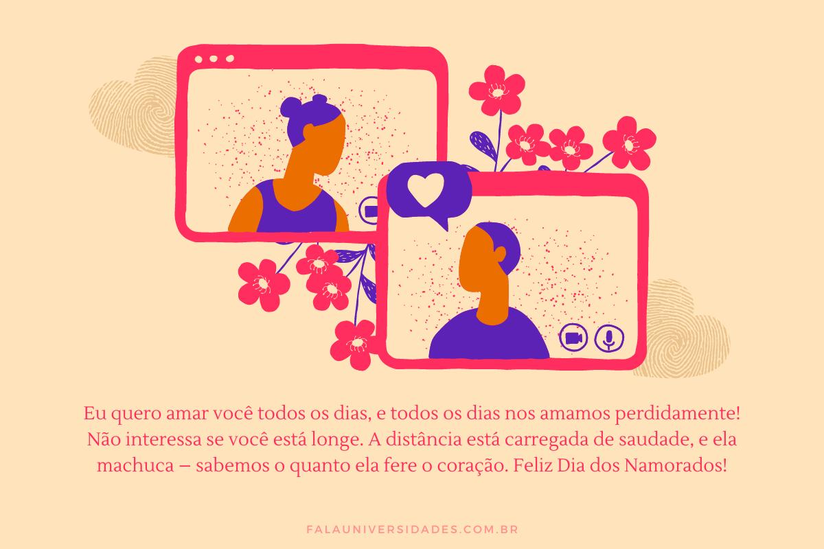 Frase e mensagem Dia dos Namorados.