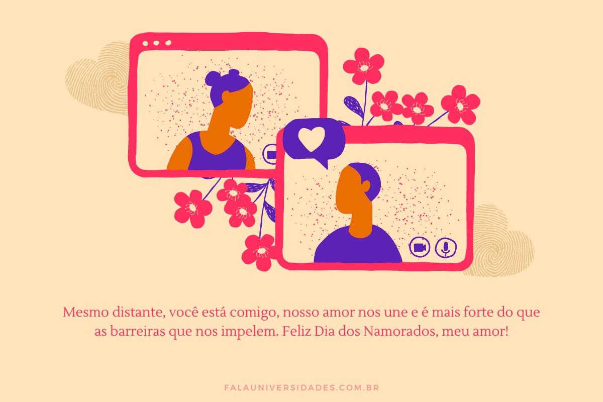 Mensagem do Dia dos Namorados para namoro a distância.