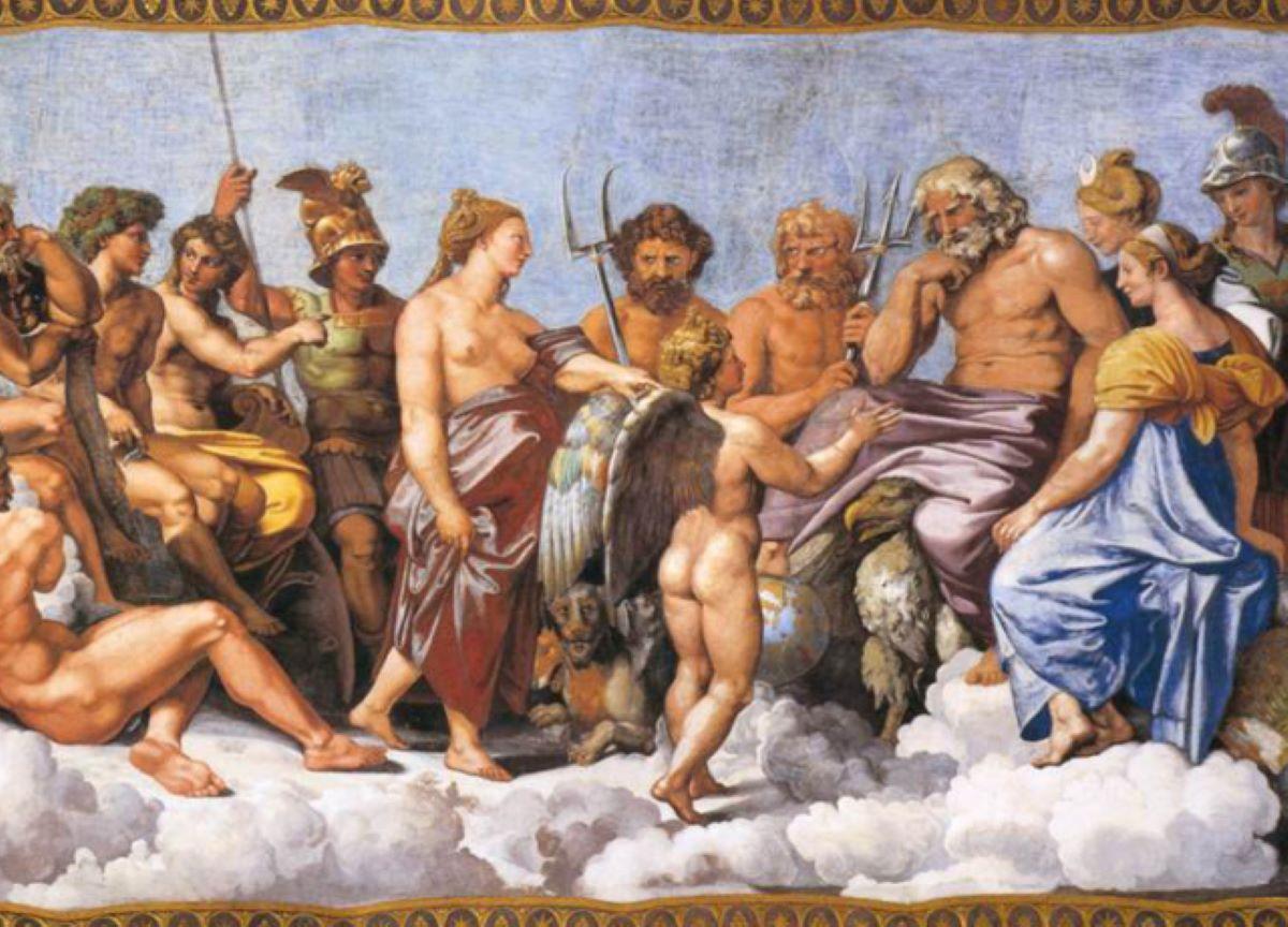 Quais são as diferenças entre a mitologia grega e a romana?