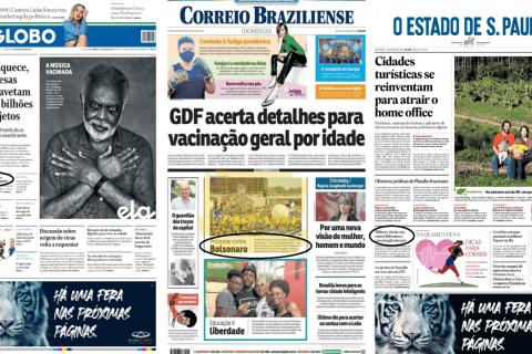 Jornais ignoram manifestações contra Bolsonaro na web
