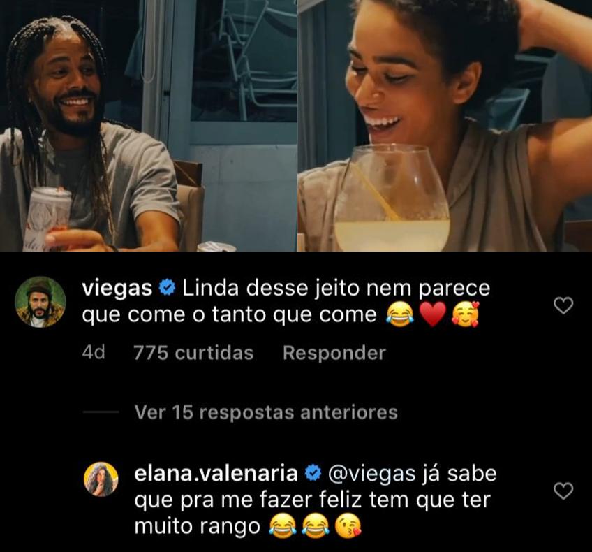Viega e Elana são um possível casal após o fim das gravações de No Limite.