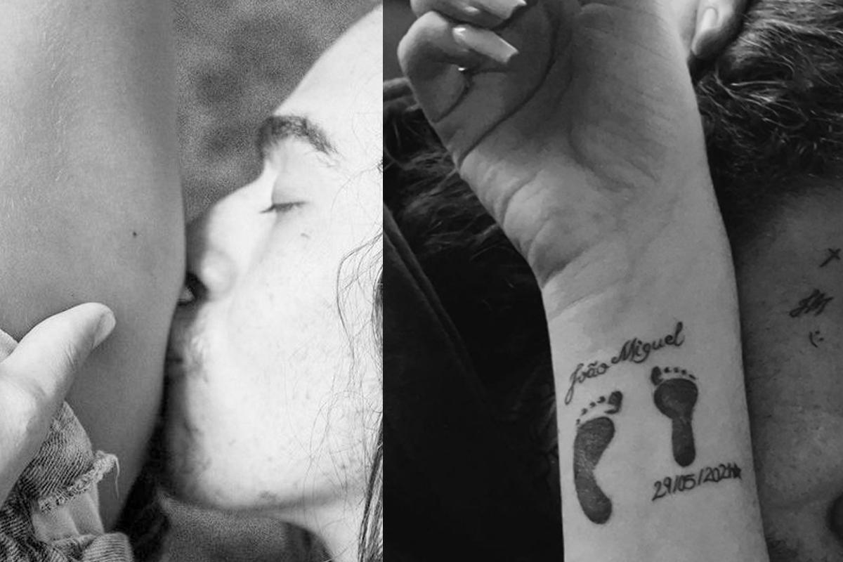 Whindersson Nunes e Maria Lina fazem tattoo em homenagem ao filho
