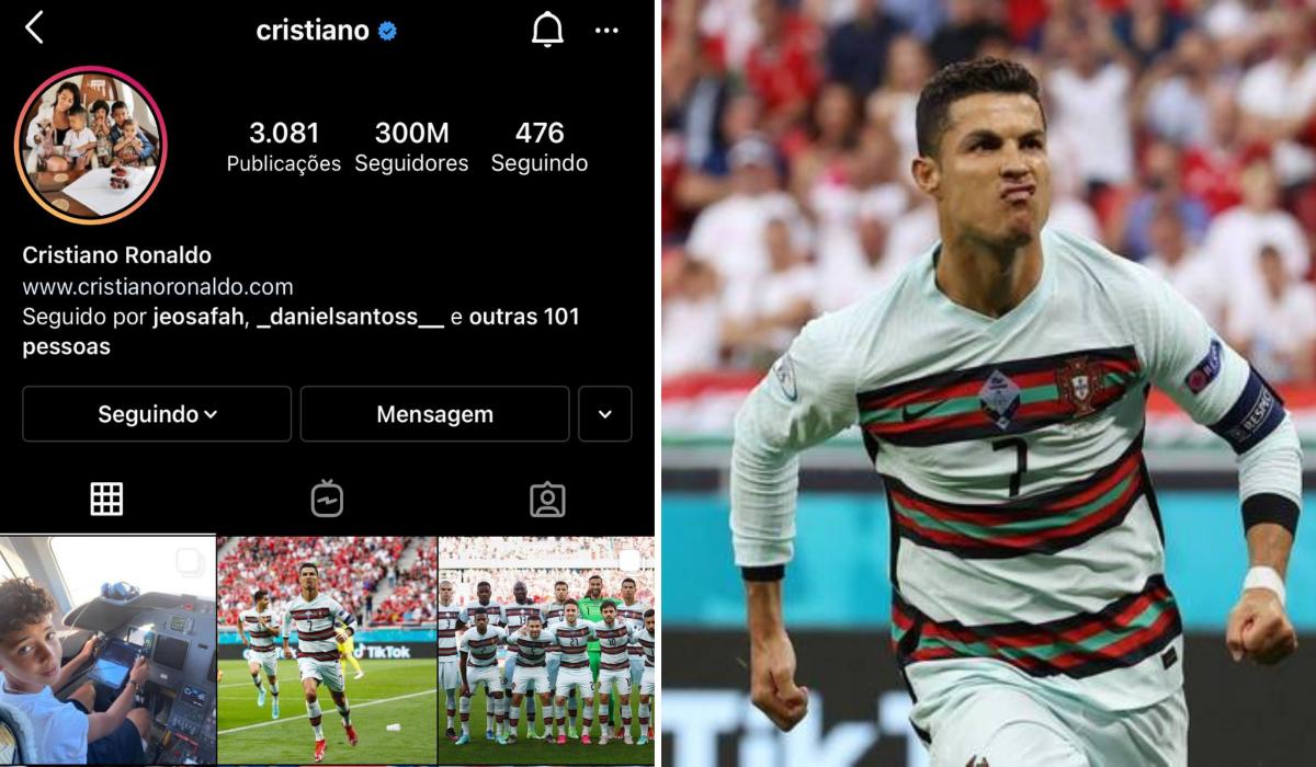 CR7 atinge a marca de 300 milhões de seguidores no Instagram