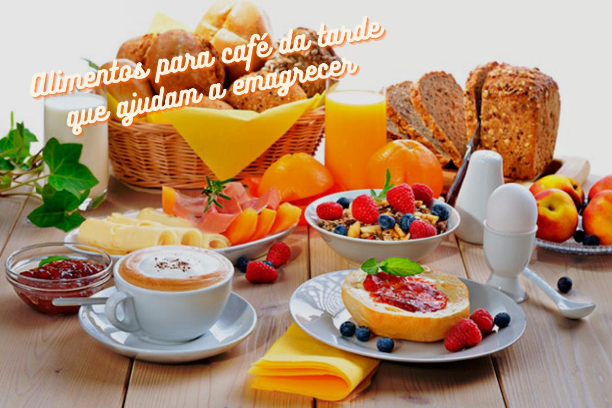 5 alimentos para o café da tarde que ajudam a emagrecer