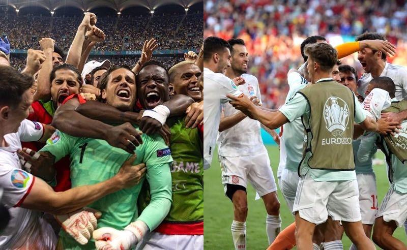 Suíça e Espanha