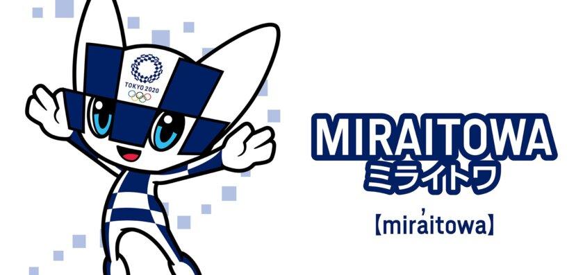 Miraitowa, um dos mascotes das Olimpíadas 2021, representa o passado e o futuro do Japão.