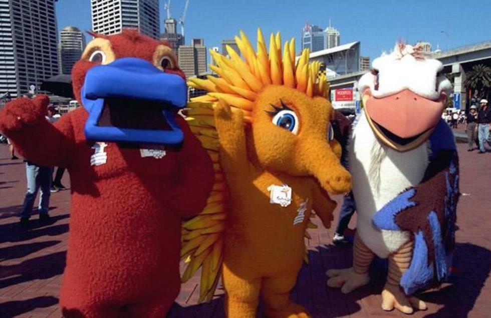 Os mascotes das Olimpíadas de Sydney, de 2000, são inspirados em animais australianos.