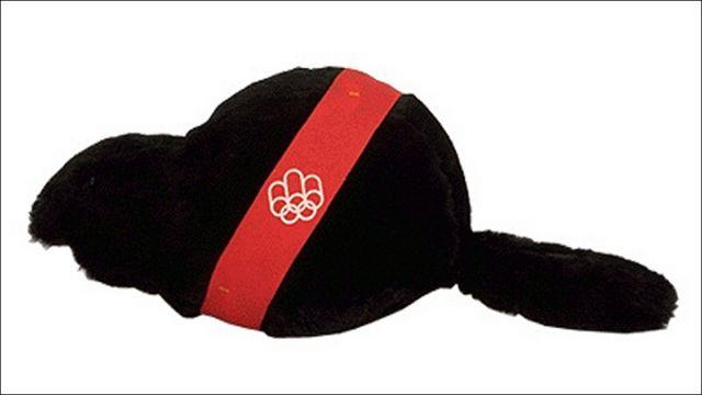 Amik, o castor, é um dos mascotes olímpicos.
