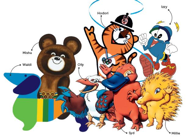 Os mascotes olímpicos são símbolo da cultura e do povo de seus países.