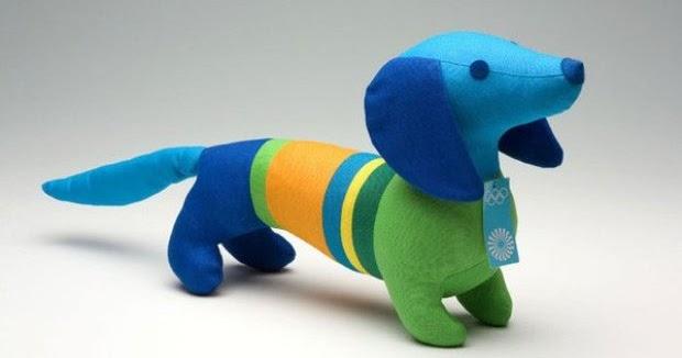 Waldi é um simpático cãozinho, mascote das Olimpíadas de Munique, em 1972.