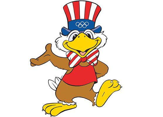 Sam é um mascote inspirado no Tio Sam, figura popular dos Estados Unidos.