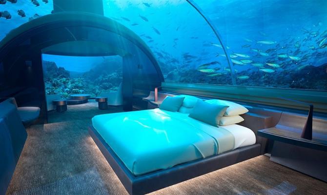 O Conrad Maldives Rangali Island é um dos hotéis embaixo da água.