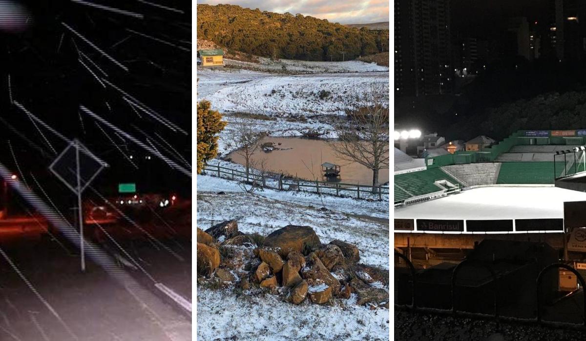 Neve em 10 cidades do Brasil. Veja as fotos