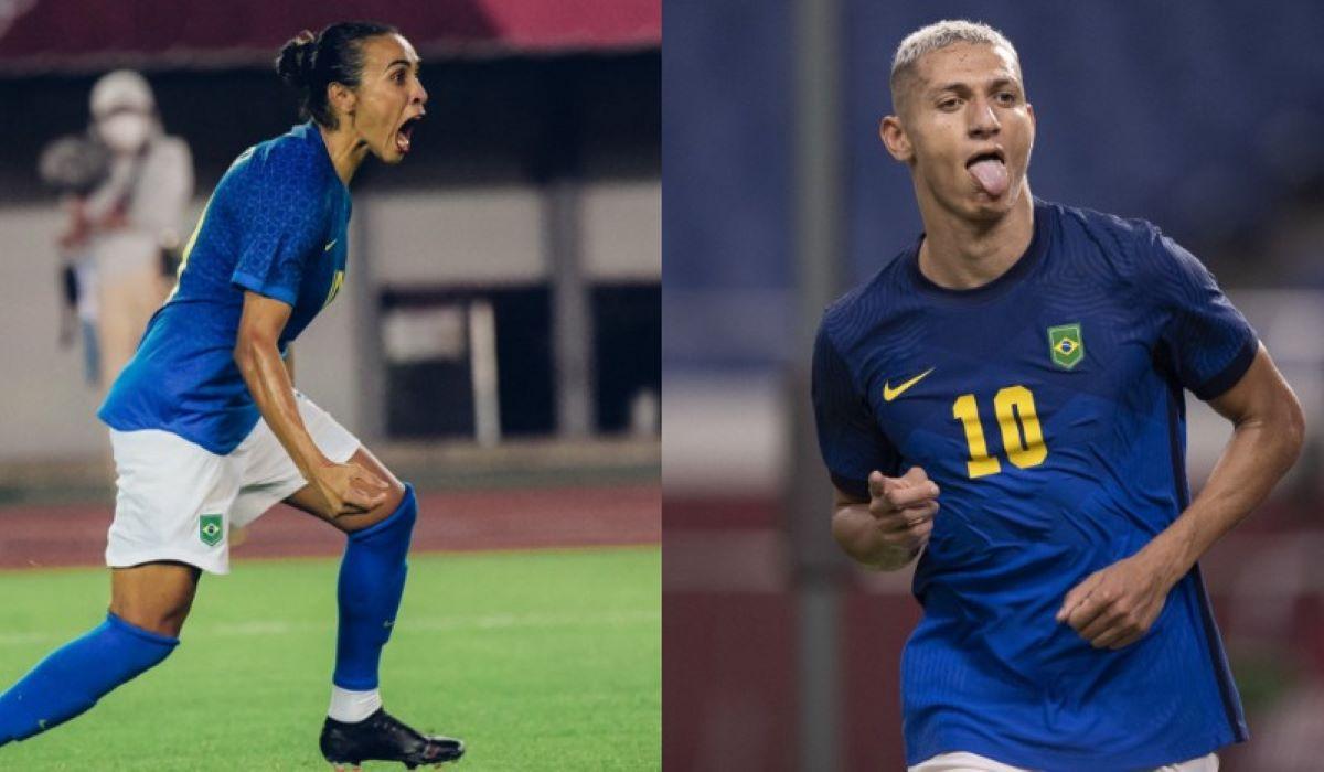 Olimpíadas: seleções masculina e feminina de futebol estão nas quartas de final