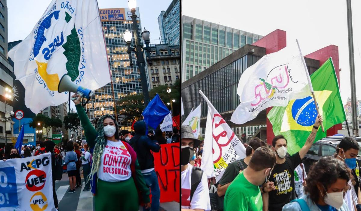 Dia do Estudante provoca manifestação na Avenida Paulista