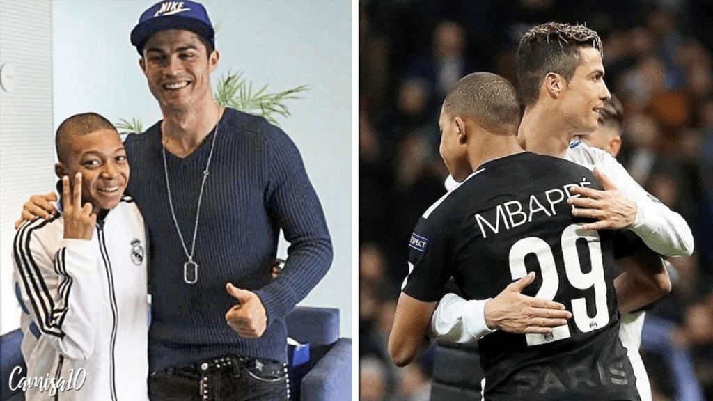 Mbappé e Cristiano Ronaldo