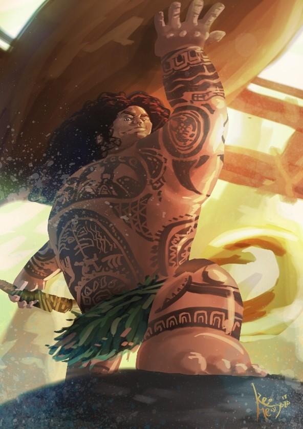 Maui é um dos semideuses mais populares das lendas da cultura havaiana.