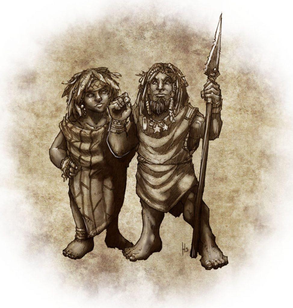 Os Menehunes são criaturas pequenas e travessas.