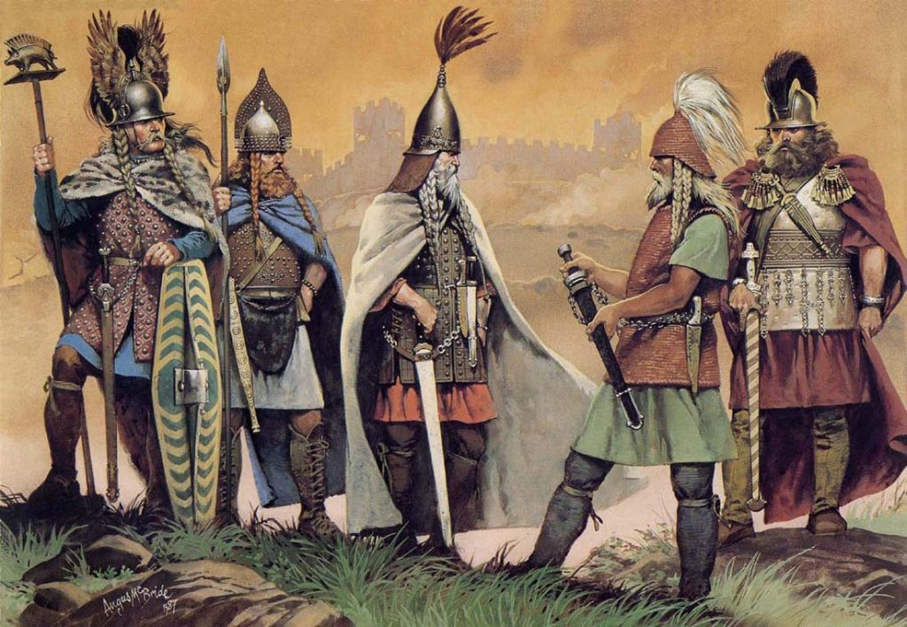 O povo Celta viveu na Europa entre 600 A.C a 600 D.C e constituiu parte da cultura europeia.