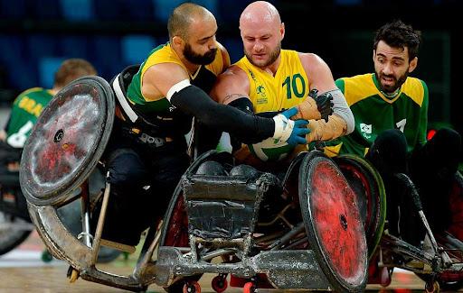 Os Estados Unidos domina o Rugby com cadeira de rodas.