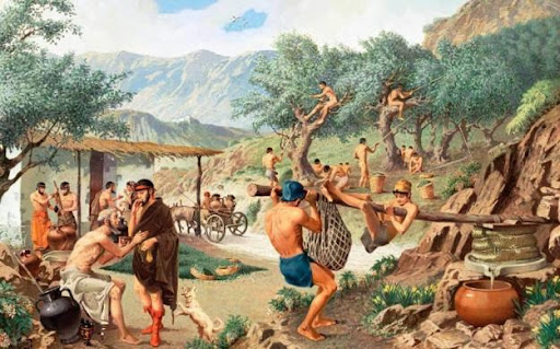 A Grécia é, historicamente, conhecida por seu consumo de azeite de oliva.