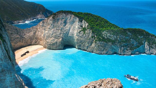 O litoral grego.