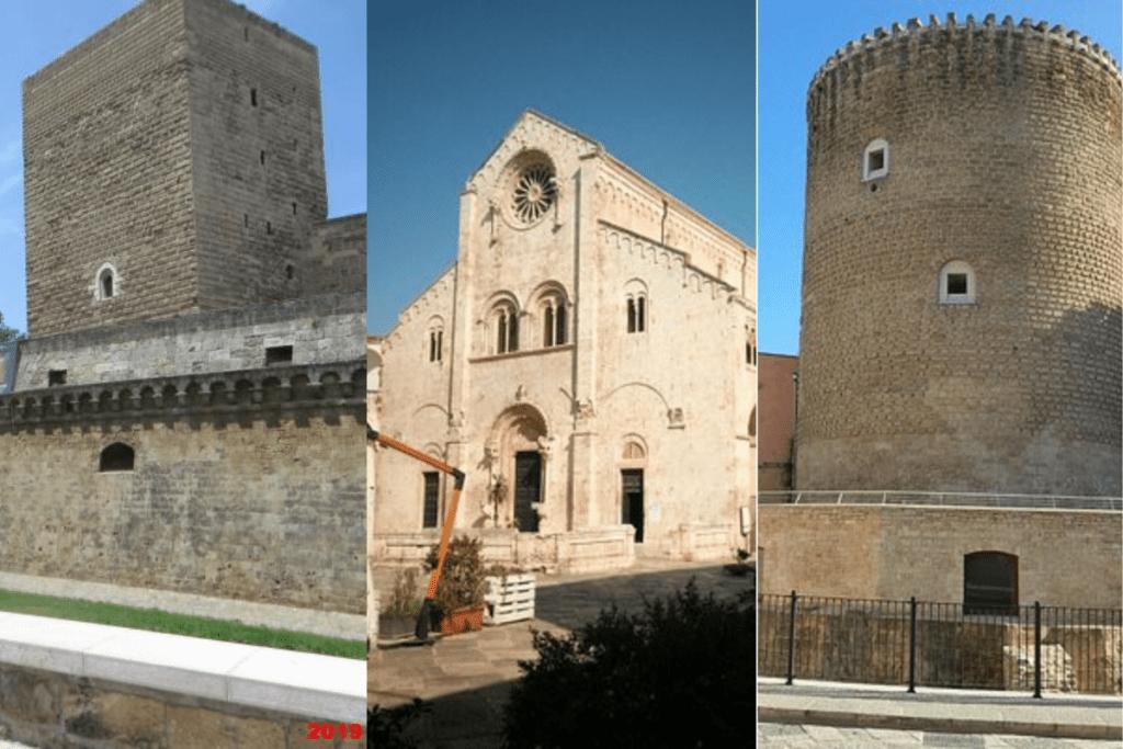 Catedral de Bitonto, Castelo Norman-Hohenstaufen e Torrione Angioino.