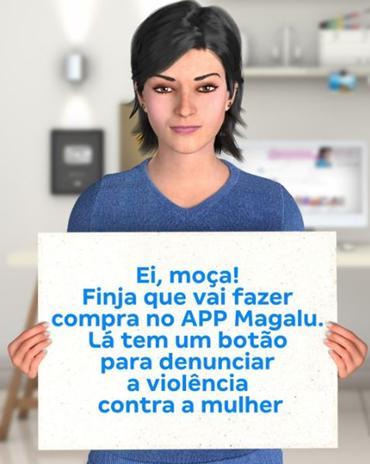 Botão disponibilizado às vítimas de violência doméstica.