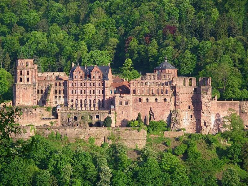 O Castelo de Heidelberg está, atualmente, em ruínas.