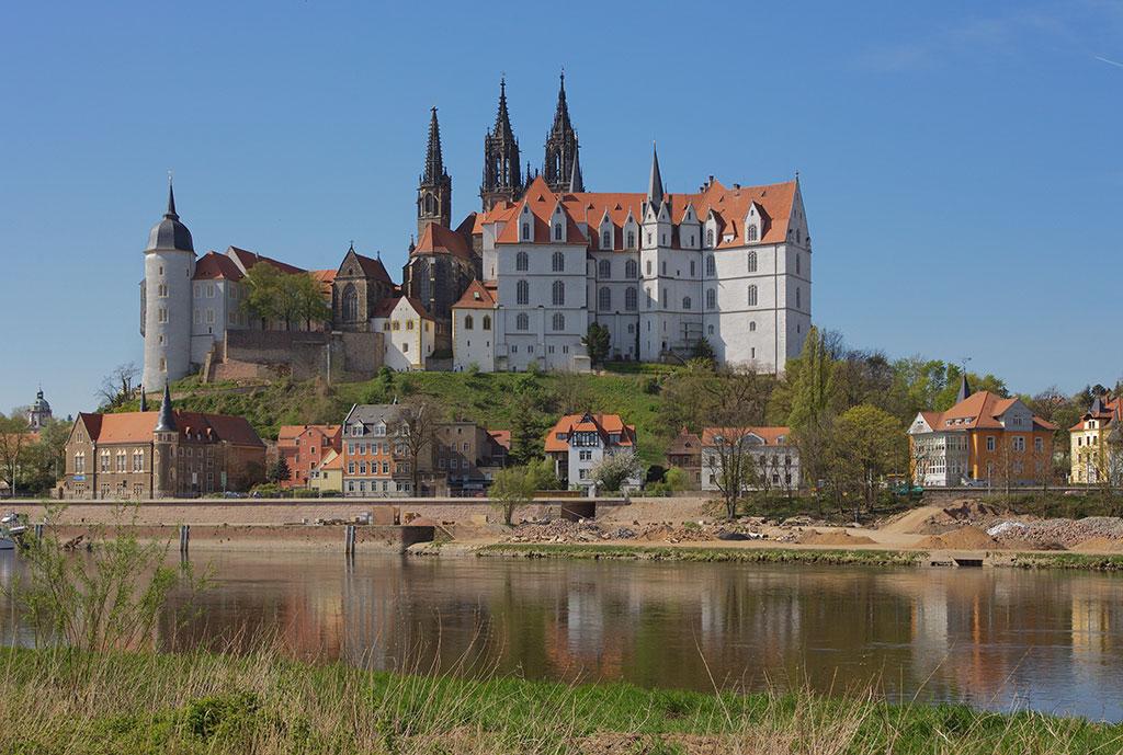 O Castelo Albrechtsburg é um dos castelos góticos da Alemanha.