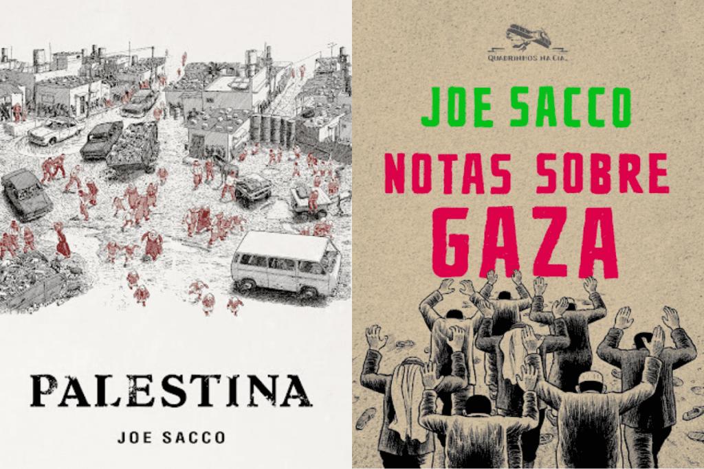 Obras de Joe Sacco para o Jornalismo em Quadrinhos.
