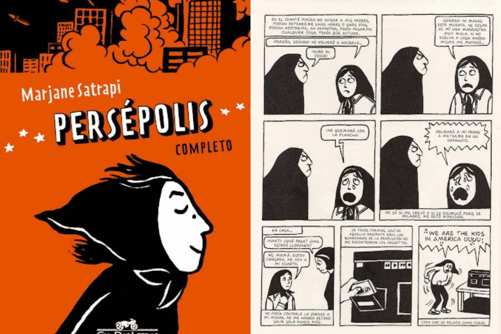 O livro Persépolis é um exemplo de obra do Jornalismo em Quadrinhos.