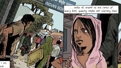 Graphic Journalism on Human Trafficking in Nepal de Dan Archer.