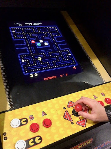 Máquina de fliperama do Pac-Man.