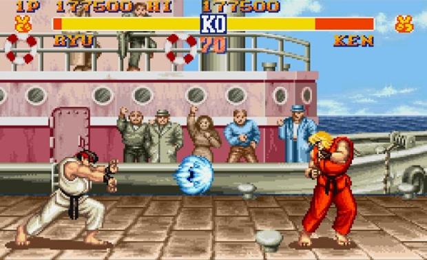 Street Fighter II, jogo clássico da Capcom.