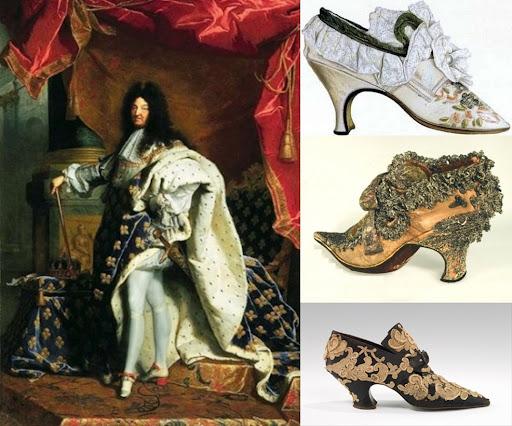 Luís XIV da França tornou os sapatos de salto sinônimo de nobreza.