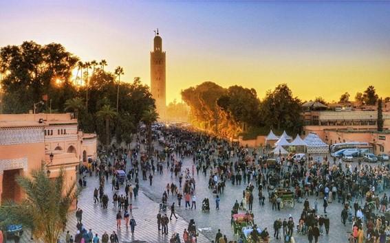 Marrocos, localizado na África Setentrional.