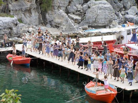 Damouchari é o local da cena mais famosa do filme.