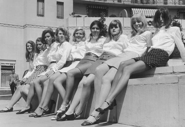As minissaias foram criadas nos anos 60 e viraram tendência no público jovem.