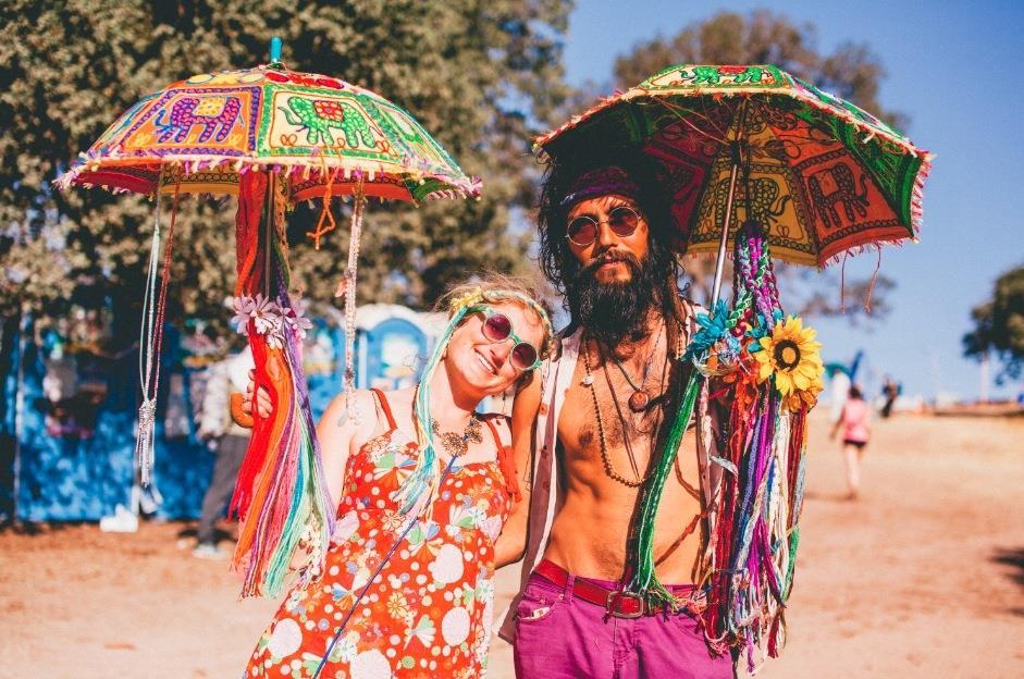 Estilo hippie, popular nos anos 60.