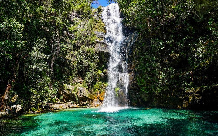A Cachoeira de Santa Bárbara está localizada em Goiás.